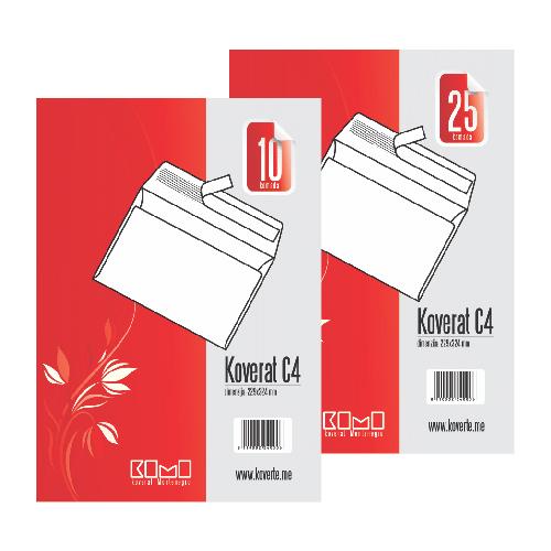 Koverta C4 bijela - pak | KoMo